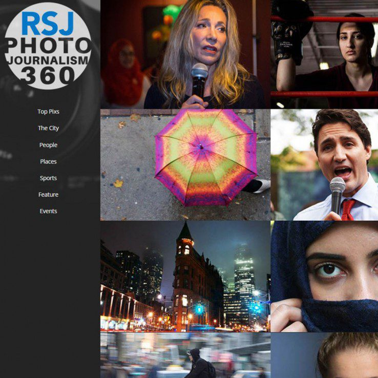 The homepage of the Photo Journalism 360 website