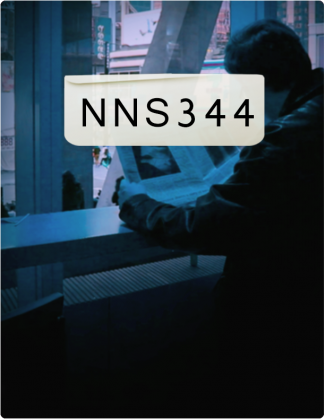 NNS 344 is written in black text with someone reading a newspaper in the background.