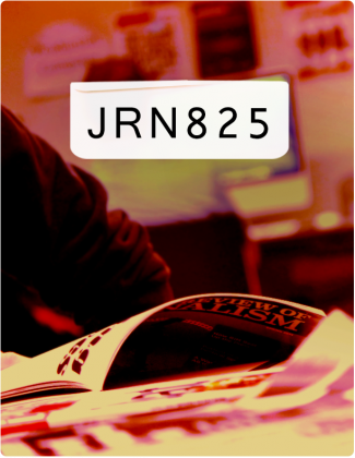 JRN 825 is written in black text, with an RRJ magazine open in the background.